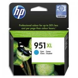 HP Cartouche jet d'encre cyan 951XL pour Officejet Pro 8600 e AIO / 8600 Plus e AIO CN046AE