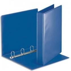 ESSELTE Classeur à couverture personnalisable sur deux faces en PVC bleu - dos de 5 cm