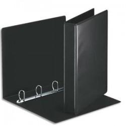 ESSELTE Classeur à couverture personnalisable sur deux faces en PVC noir - dos de 5 cm