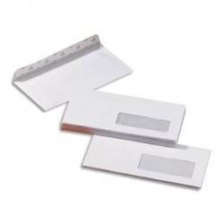 5 ETOILES Boîte de 500 enveloppes blanches 80g DL 110x220 mm fenêtre 35x100 mm auto-adhésives