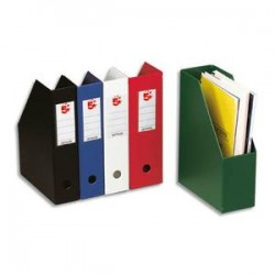 5 ETOILES Porte-revues en PVC soudé dos de 7 cm, rouge, livré à plat