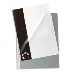 5 ETOILES Boîte de 100 pochettes à ouverture en coin en polypropylène 9/100e, perforation 11 trous