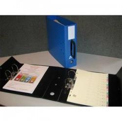 ARIANEX Classeur à deux leviers en PVC intérieur et extérieur avec poignée sur le dos, coloris bleu
