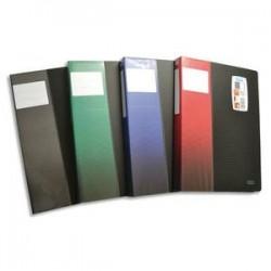 ELBA Protège documents STAND UP, format A4, 80 vues, 40 pochettes, coloris noir, coloris étiquette ass
