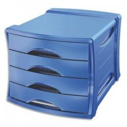 ESSELTE Bloc de classement Europost 4 tiroirs - Vivida bleu - L28,5 x H24,5 x P38 cm