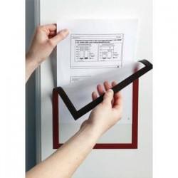 DURABLE sachet de 5 cadres d'affichage Duraframe dos magnét, format A4, rouge