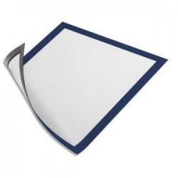 DURABLE Sachet de 5 Cadres d'affichage Duraframe dos magnétique bleu format A4