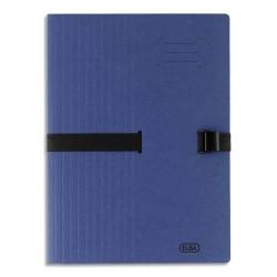 ELBA Chemise adaptable à sangle, grande capacité CLIP N'GO . Coloris bleu.