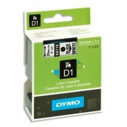 DYMO Ruban D1 Noir/blanc 24mm x 7m pour LM300