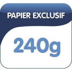 OBLIQUE AZ Boîte de 25 dossiers suspendus ARMOIRE en kraft 240g. Fond 50, bouton-pression. Orange