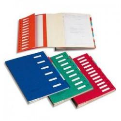 EMEY Trieur EMEY JUNIOR en carte avec système clip, 12 compartiments. Coloris rouge.