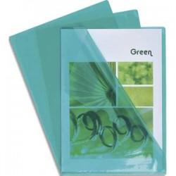 EXACOMPTA Boîte de 100 pochettes coin en PVC 14/100 ème. Coloris vert.