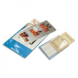 EXACOMPTA Sachet de 10 étuis 4 faces en PVC 30/100 ème. Format 30 X 21 cm.