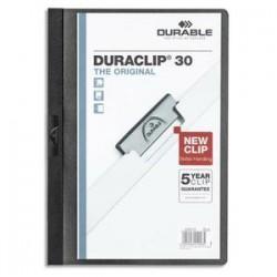 DURABLE Chemise de présentation à clip DURACLIP. Capacité 30 feuilles. Coloris noir.