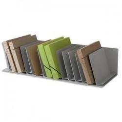 PAPERFLOW Trieurs 16 cases fixes inclinées pour documents A4 L91,2 x H20,6 x P31 cm, case L4,5 cm gris