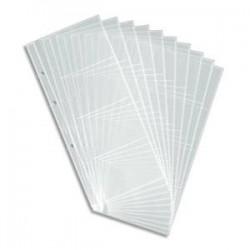 DURABLE Sachet de 10 pochettes de 8 vues transparentes pour cartes de visite Visifix Centium 240301