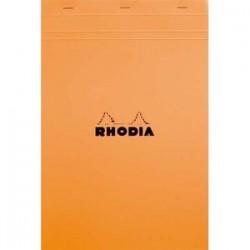 RHODIA Bloc de direction couverture orange 80 feuilles détachables format A4+ réglure ligné+marge