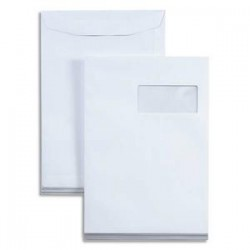 LA COURONNE Boîte de 250 pochettes 110 grammes à fenêtre format 229 x 324 C4 coloris blanc