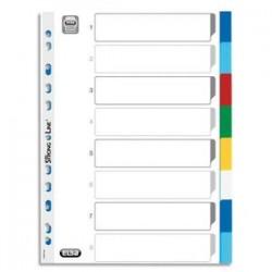 ELBA Jeu d intercalaires 8 positions en polypropylène couleur 12/100e