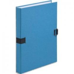 EXACOMPTA Chemise extensible fibres papier 100% recyclées coloris bleu