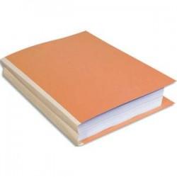 EXACOMPTA Paquet de 25 chemises à dos toilé, carte 300 grammes, dos 3cm, 24x32cm, coloris bulle