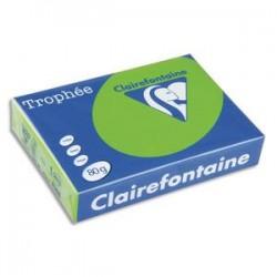 CLAIREFONTAINE Ramette de 500 feuilles papier couleur TROPHEE 80 grammes format A3 vert golf 1891