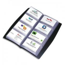ELBA Porte-cartes de visite tout terrain noir capacité 240 cartes en PVC L13,5 x H27,7 cm
