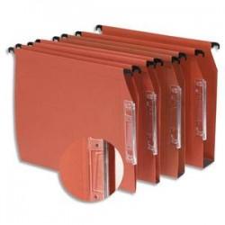 NEUTRE Boîte de 25 dossiers suspendus ARMOIRE en kraft 210g. Fond 15mm, volet agrafage. Orange.