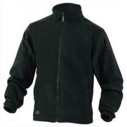 DELTA PLUS Veste polaire Vernon en laine polaire polyester fermeture zip 2 poches noire Taille XL