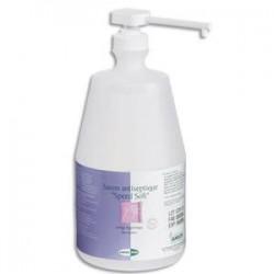 ANIOS Lot de 3 Flacons d'1 Litre Savon poussoir antiseptique pour les mains EN305  Bactéricide HACCP