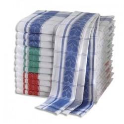 HYGIENE Lot de 12 Torchons standards 100% coton motif Fruits - Format : 70 x 50 cm