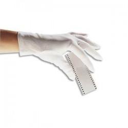 DELTA PLUS Lot de 12 paires de Gants en coton blancs poignets à ourlet ne peluche pas pour Femme