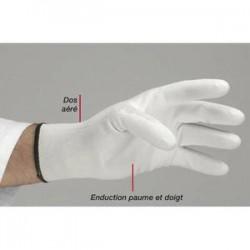 DELTA PLUS Carton de 10 paires gants tricot en polyamide sans couture élastique aux poignets Taille 9