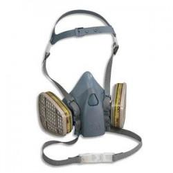 3M FRANCE Demi masque en silicone texturé, fixation des filtres à baïonnette conforme Norme EN140 K7502