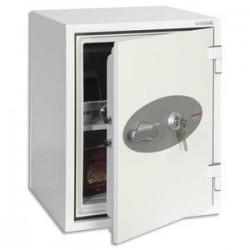 PHOENIX Coffre-fort ignifuge 1hr acier serrure à clé Titan 36 litres - L40,4 x H52,2 x P44 cm gris