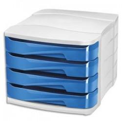 CEP Module de classement GLOSS 4 tiroirs - Dimensions L29,2 x H24,6 x P38,6 cm. Coloris bleu océan