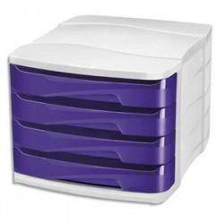 CEP Module de classement GLOSS 4 tiroirs - Dimensions L29,2 x H24,6 x P38,6 cm. Coloris violet