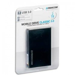 "FREECOM Disque dur 2,5"" USB 3.0 Mobile Drive Classic 2To 56297 + redevance"