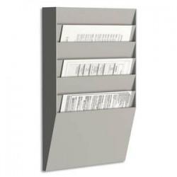 PAPERFLOW trieur horizontal 6 cases A4, coloris gris - Dimensions L31,1 x H50,2 x P7,9 cm