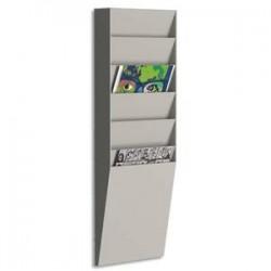 PAPERFLOW trieur vertical 6 cases A4, coloris gris - Dimensions L23,6 x H71,2 x P8,3 cm