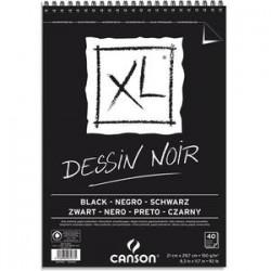 CANSON Bloc de 40 feuilles de papier XL DESSIN NOIR 150g A4