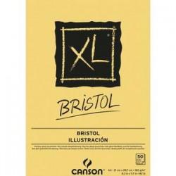 CANSON Bloc de 50 feuilles de papier dessin XL BRISTOL 180g A4