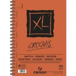 CANSON Bloc spiralé de 120 feuilles de papier dessin CROQUIS XL 90g A4