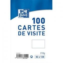 OXFORD Boîte de 100 cartes de visite 210g, format 82x128 mm