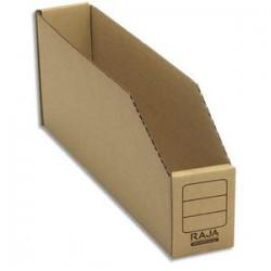 EMBALLAGE Paquet de 50 bacs à bec de stockage en carton brun - Dimensions : L5,1 x H11,2 x P30,1 cm