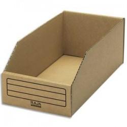 EMBALLAGE Paquet de 50 bacs à bec de stockage en carton brun - Dimensions : L15,1 x H11,2 x P30,1 cm