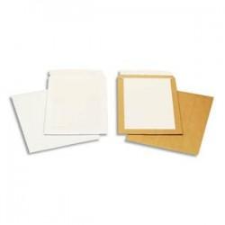 BONG Boîte de 100 pochettes blanches auto-adhésives dos cartonné 229X324 120G