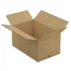 EMBALLAGE Paquet de 20 Caisses américaines en carton brun simple cannelure - Dim. : L80 x H40 x P50 cm