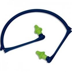 DELTA PLUS Bouchons d'oreilles mousse polyuréthane reliés par un arceau pliable polypropylène jaune bleu