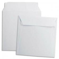 GPV Boîte de 500 enveloppes carrées blanches 220 x 220 mm 120 g auto-adhesives 4754